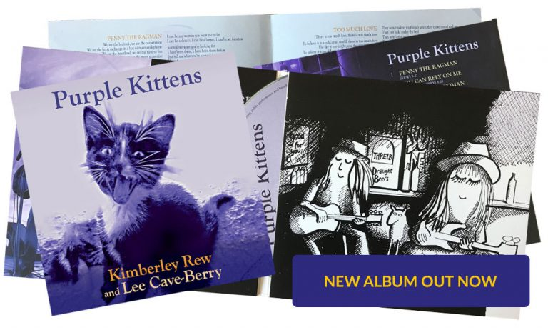 Purple Kittens album, from Kimberley Rew and Lee Cave-Berry - Kim & Lee