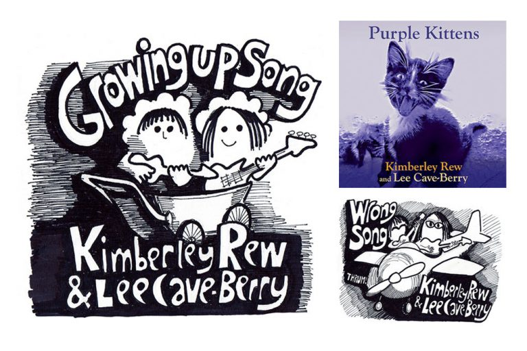 Growing Up Song, Wrong Song, packshots, taken from the album Purple Kittens